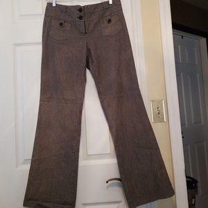 Pants - Black and grey striped pants